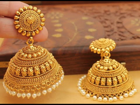 latest heavy gold jhumka designs for bridal gold jhumka designs for bridal youtube