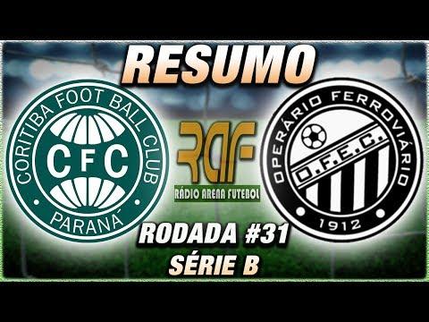 Coritiba e Operário Ao Vivo l Campeonato Brasileiro Série B l Rodada 31