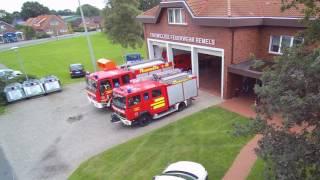 Alarmierung + Einsatzfahrt Feuerwehr Remels ELW + TLF