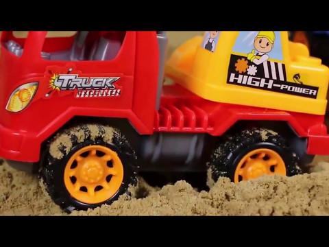 Film Kartun Animasi Anak - Mainan Mobil Balap,Beko Excavator/Crane truck and excavators