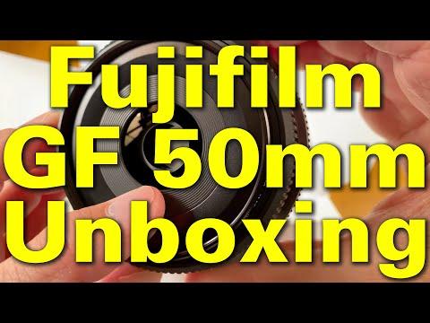 Fujifilm GF 50mm F/3.5 Unboxing 4K