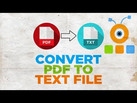 How To Convert PDF To Text File Using Adobe Reader