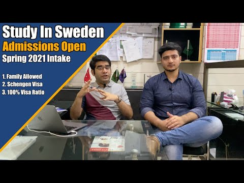 Study In Sweden || Spring 2021 Intake || Admissions Open || On Campus Classess || Complete Info