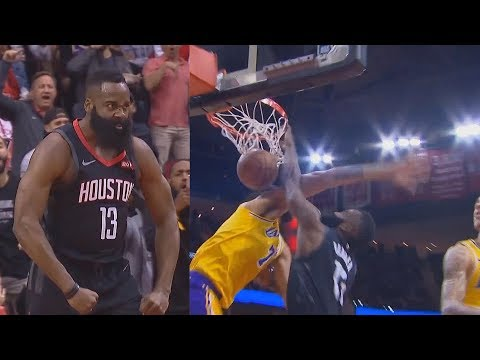 James Harden DESTROYS JaVale McGee With Dunk Shocking Rockets Crowd! Lakers vs Rockets