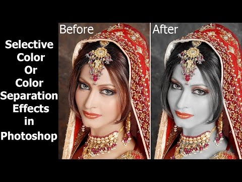 How to create the color Splash | Selective | color Separation effect - Photoshop in hindi Tutorial