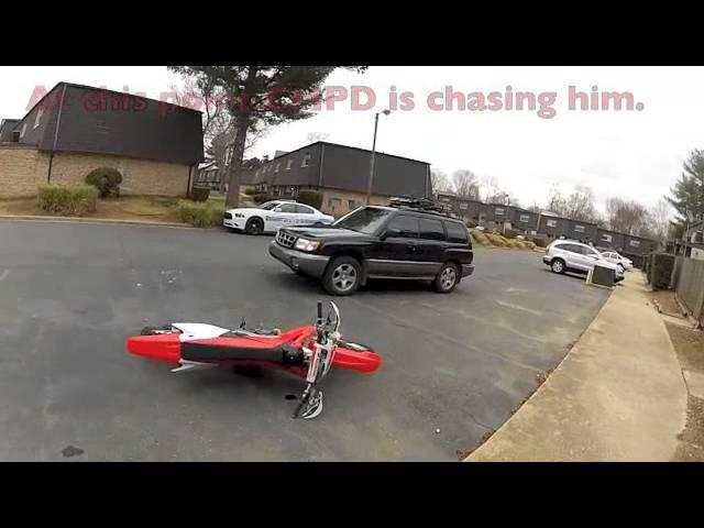 Recovering a stolen dirt bike.