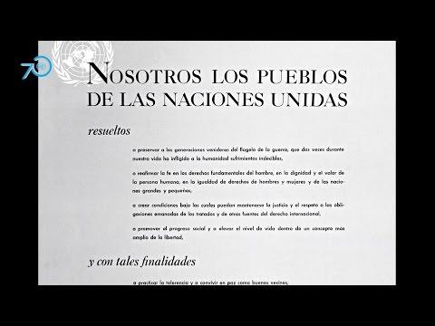 Parte del texto de la Carta de la ONU