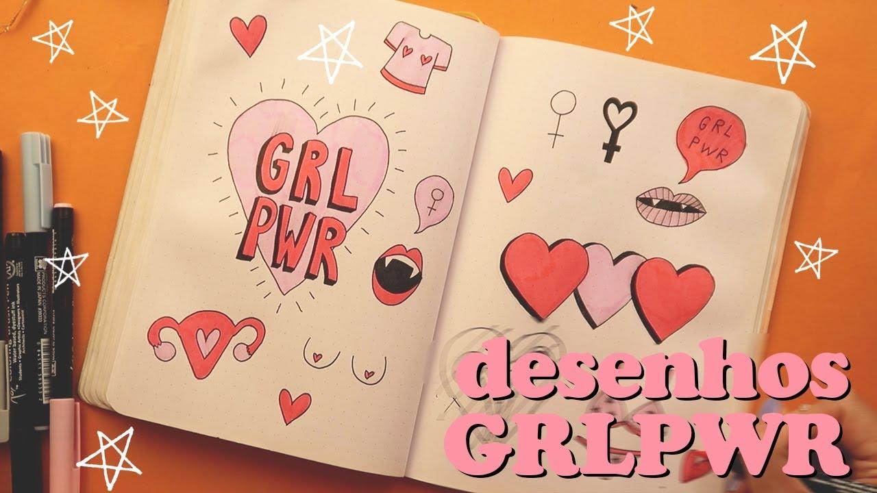 Desenhos Girl Power Para Bullet Journal Youtube