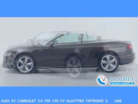 vodiff audi occasion alsace audi a5 cabriolet 3 0 tdi 240 cv q uattro tiptronic s line youtube. Black Bedroom Furniture Sets. Home Design Ideas