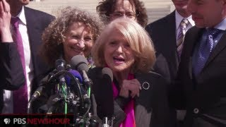Watch DOMA Challengers Speak After Oral Arguments End
