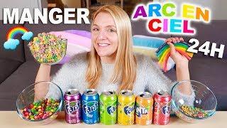 Je mange que de la nourriture ARC-EN-CIEL pendant 24H | Sophie Fantasy