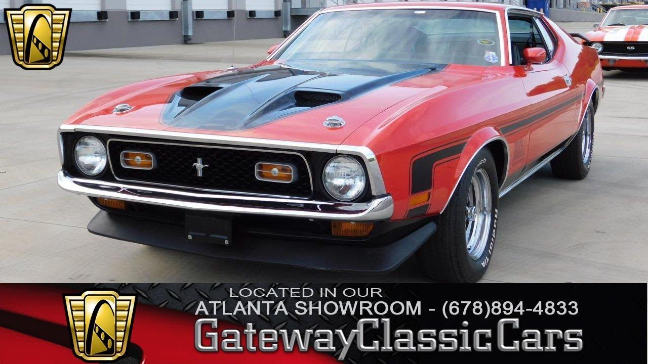 1972 ford mustang mach 1 gateway classic cars of atlanta stock 842 atl