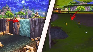 How to get inside the SECRET WATERFALL at Loot Lake! Get inside the SECRET AREA! (Fortnite Glitch)