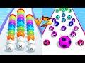 BallRun2048 ☄️❤️🔥 VS A-Z RUN ❤️🔥🏃♂️ - All Levels Gameplay Walkthrough Android, iOS NEW UPDATE