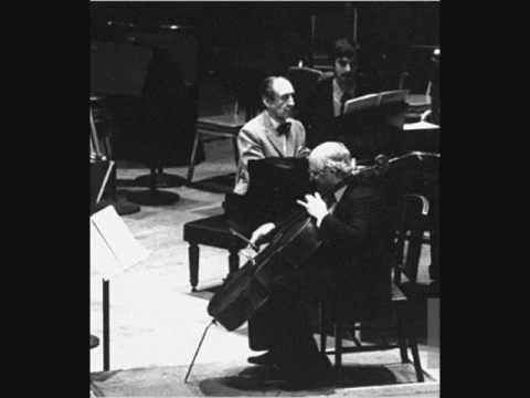 Rostropovich and Horowitz play Rachmaninoff: Andante from Cello Sonata (1976)
