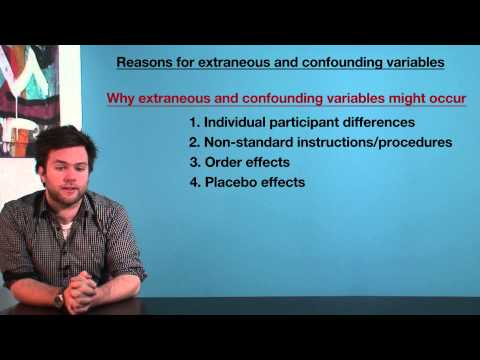VCE Psychology - Reasons for Extraneous and Confounding Variables