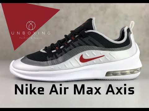 nike-air-max-axis-'black/sport-red-mtlc-platinum'-|-unboxing-&-on-feet-|-fashion-shoes-|-2019