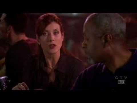 Addison talk and dance with the chief in Joe\'s Bar