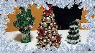 Новогодние DIY елочки из подручных материалов