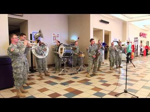 Route 66 Brass Band - Flash Mob PX Fort Leonard Wood, MO