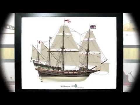 HMS Revenge 1577 Profile Print maritime art English galleon