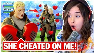 8 YR OLD gets CHEATED on by Fortnite Girlfriend! Pokimane Random Duos!