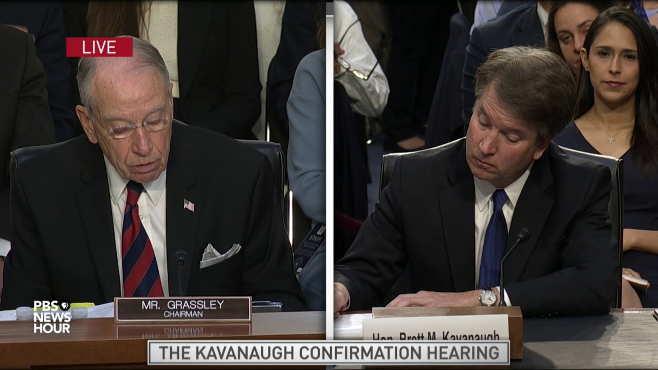 Image result for Kavanaugh grassley