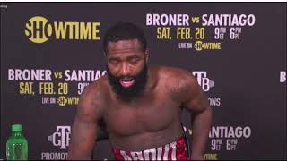 Adrien Broner Post Fight Press Conference after win over Jovanie Santiago