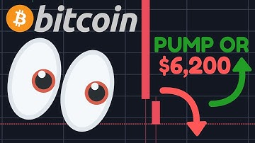 BITCOIN FALLING TO $6,200 OR IS A BOUNCE COMING?!!