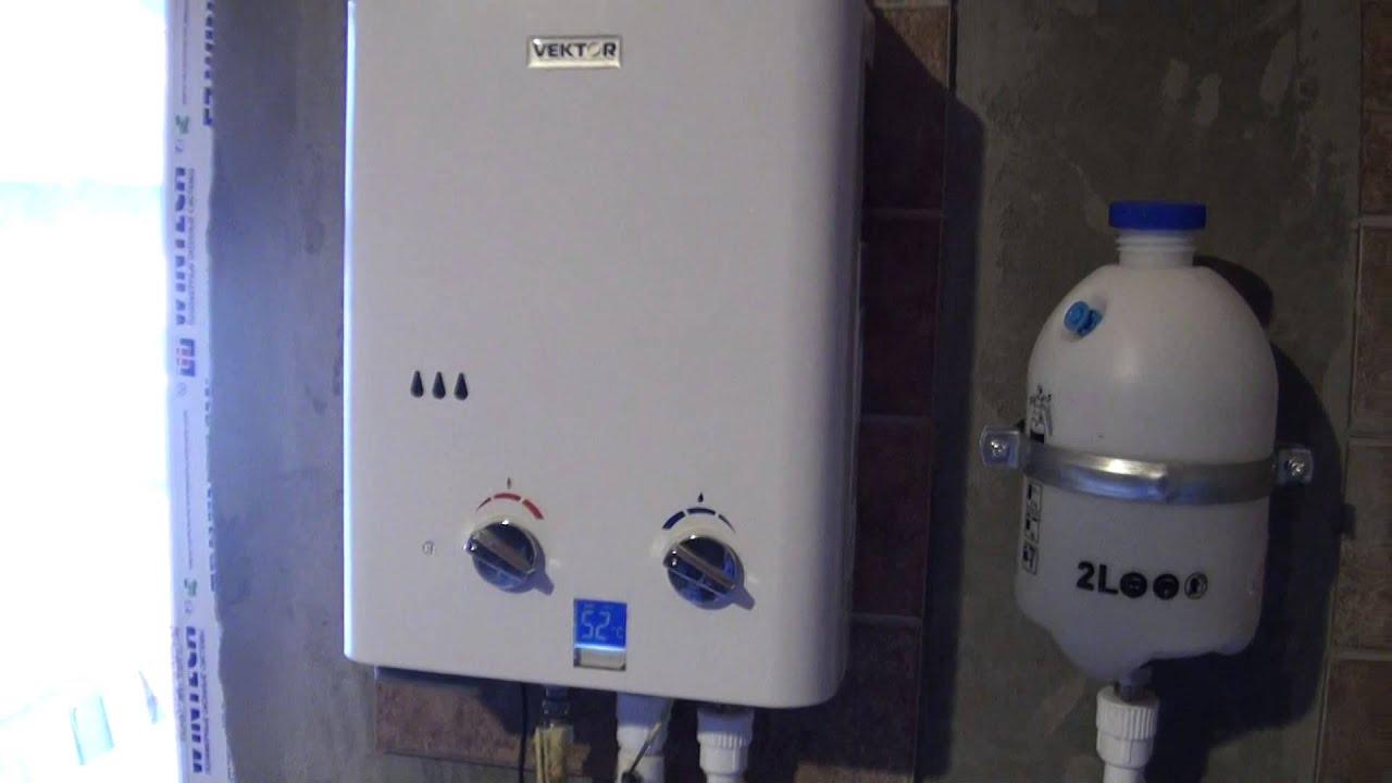 Использование газовой колонки VECTOR JSD-11 в качестве котла отопления часть1