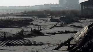 Hurricane Sandy Ocean City NJ dunes save OC boardwalk