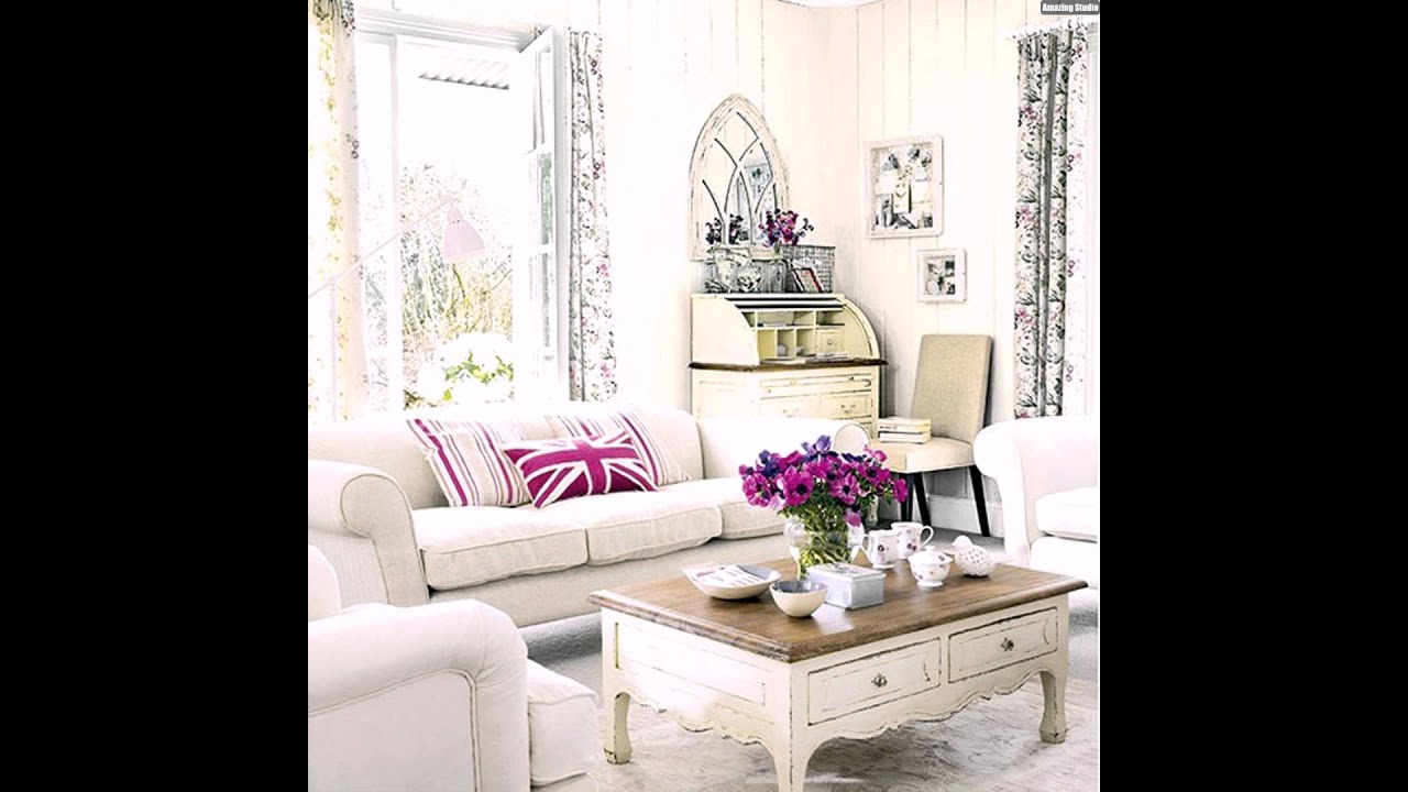 wohnideen wohnzimmer wei pink shabby chic youtube. Black Bedroom Furniture Sets. Home Design Ideas