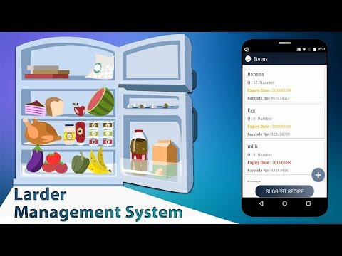 Android Larder Management System For Grocery Shops