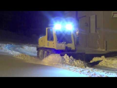 Bombardier SW48 first snow clearing - YouTube