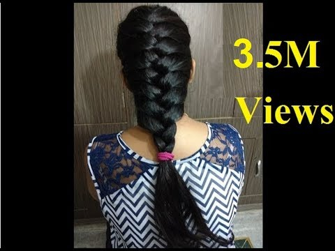 Hairstyles For Long Hair S In Hindi : French hair style hindi youtube