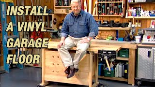 Insulate & Install Garage Vinyl Floor