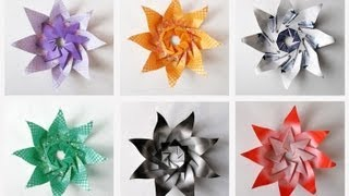 Origami Instructions- Modular Origami Lily Star Used as a Candle