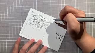 CarrieFish Zentangle - 在家學禪繞001