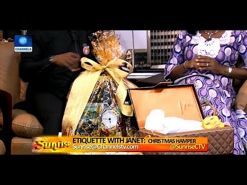 Etiquette With Janet: Need Help Packing Hampers This Festive Season? Pt.1 |Sunrise|