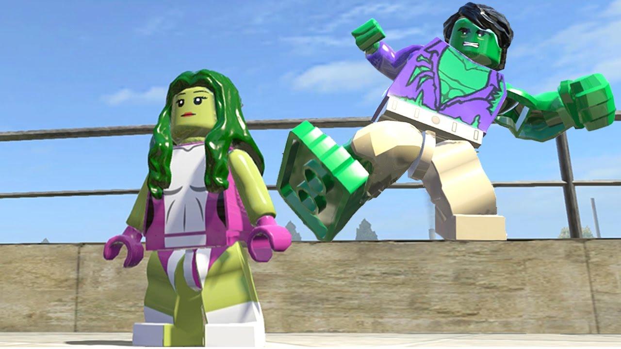 Hulk (Transformation) VS She Hulk - Lego Marvel Super ...
