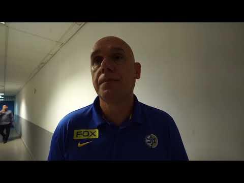 Coach Neven Spahija after the 95:99 VS AEK Athens