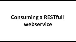 Consuming a RESTful webservice in PHP