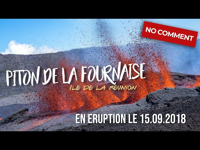 MAGMA !!! Incredible footage close to volcanic eruption at volcano Piton de La Fournaise