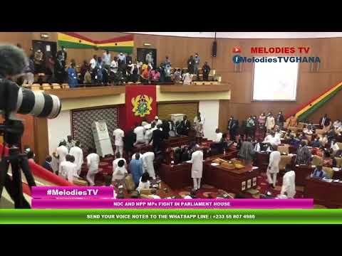 BREAKING: NDC and NPP MPs in a serious FIGHT in Parliament house