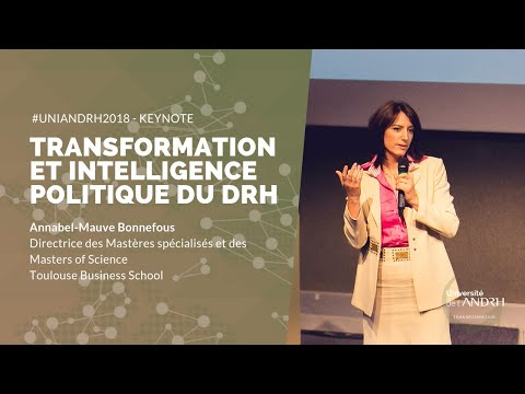 Annabel-Mauve Bonnefous - Toulouse Business School - Transformation et intelligence politique du DRH