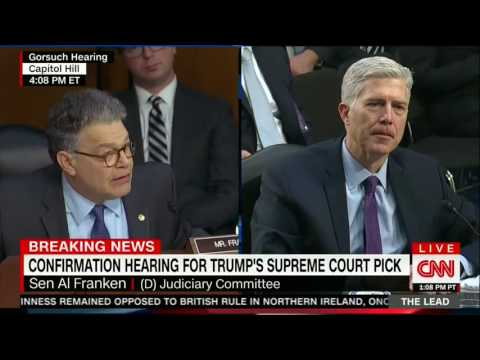 Al Franken questions Gorsuch on the