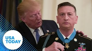 President Donald Trump issues the medal of honor | USA TODAY