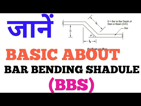 Basic  about Bar bending shedule(BBS) of construction work or civil engineering work In HINDI