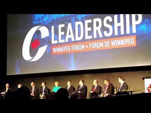 Conservative Leadership Candidates in Winnipeg Canada Intro