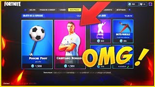 "(NEW) THE SKIN HYPER RARE ""CRISTIANO RONALDO"" ON FORTNITE BATTLE ROYALE! NEW SKINS"